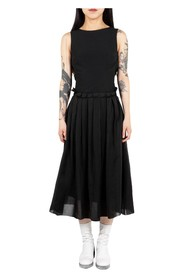 See-Through Pleated Dress