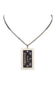 Metal Dog Tag Necklace