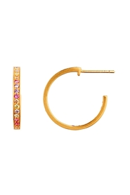 ørering - Candy Creol Soft Pastal Stones Earring, Gold