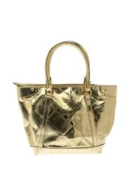 Pre-owned Beat Check Mirror Patent Leather Ember Tote