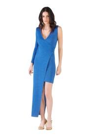 Asymmetric crossed dress