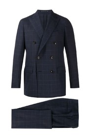 Checked pattern two piece suit