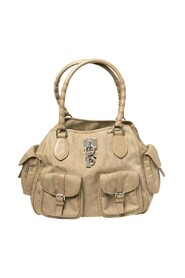 Pre-owned Canvas and Leather Multi Pocket Tote