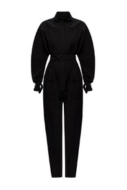 Band collar jumpsuit