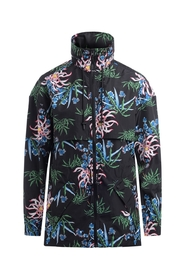 Black Sea Lily windbreaker with floral print