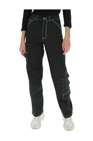 Contrast-stitch combat trousers