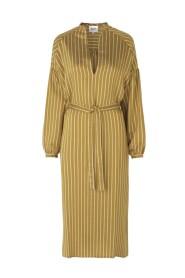 Diana striped shirt dress with belt