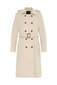 Coat Belted wool-blend