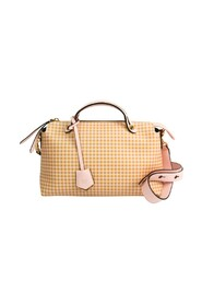pre-owned By The Way Gingham Plaid 8BL146 Leather Handbag Shoulder Bag