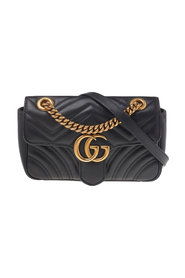 pre-owned Leather Mini GG Marmont Shoulder Bag