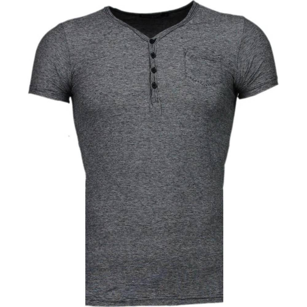 Basic Stripes V-Neck T-shirt
