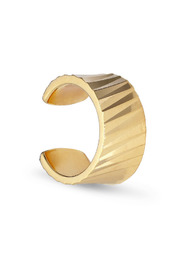 Wide Reflection cuff, gold-plated sterling silver