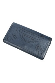 Pre-owned Perforated Continental Wallet
