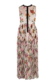 Floral Patterned Pleated Dress