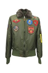 winter bomber jacket with patches