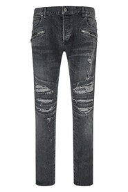 ripped-detailing slim-fit jeans