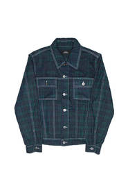 Checks denim jacket