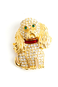 Dog Chrystal brooche