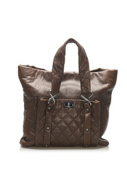 8 Knots Lambskin Tote Bag Leather