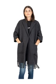 Coat with fringes