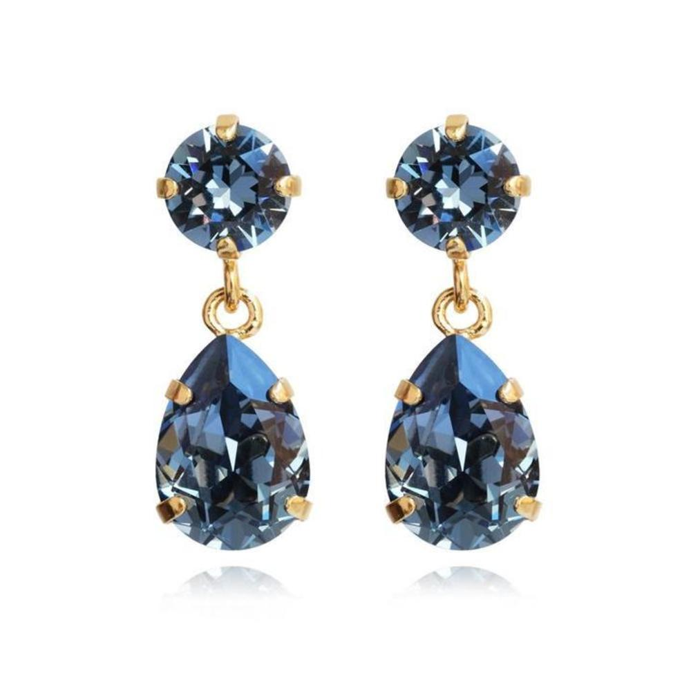 Caroline Svedbom Mini Drop Earrings Denim blue