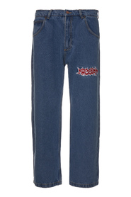 DENIM PANTS WITH EMBRODERY