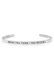 Armbånd med tekst - WHAT YOU THINK - YOU BECOME - 7321