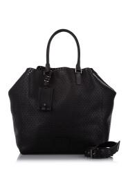 Perforeret lædertaske