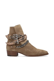 Heeled suede boots