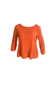 Silk blouse with round neck