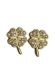 Clover Crystal Stud Earrings