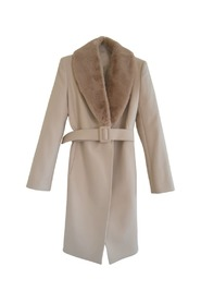Removable Collar Wrap Trench Coat