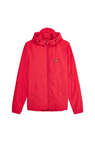 Zip Through Hooded - Red