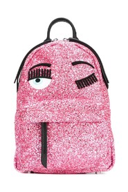 Glittery backpack with eyes