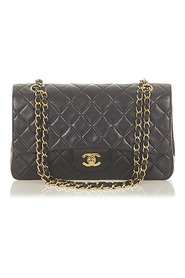 Small Classic Lambskin Leather Double Flap Bag