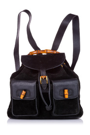 Pre-owned Bamboo Drawstring Backpack Leather Suede