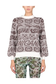 SWEATER WITH ALL OVER LOGO
