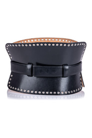 Studded Leather Corset Belt