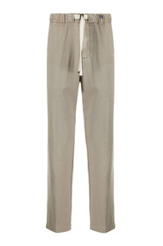 Drawstring waist straight-leg trousers