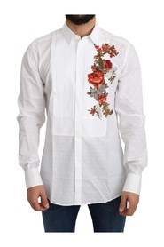 GOLD Flowers Top Solid Shirt