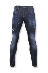 Basic Pants - Jeans With Paint Stains - D3068