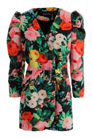 jacket in floral print fabric