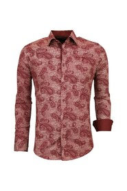 Overhemd Bloemenprint Slim Fit Blouse Mannen 3003