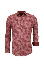 Shirt Floral print Slim Fit Blouse Men 3003