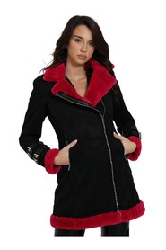 VELVET COAT WITH ZIP CLOSURE