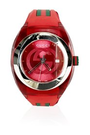 Sync Stainless Steel 137.1 Xxl Watch with Rubber Band