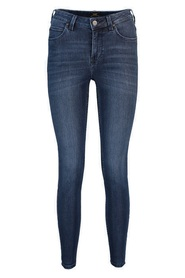Blå Lee Scarlett High Cropped Jeans