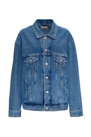Denim Jacket with Back Print Logo