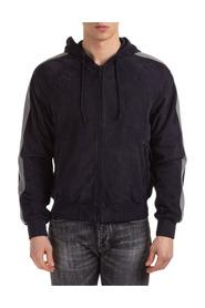 leather jacket blouson hood