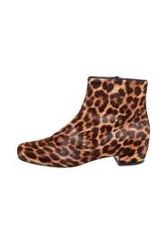 Calf Hair Tounoir Ankle Boots